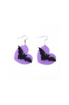 Bat Heart Earrings