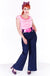 Blue Denim Hepburn Swing Pants