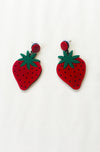 Strawberry earrings - Bonsai Kitten retro clothing