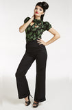 Black Retro Swing Pants