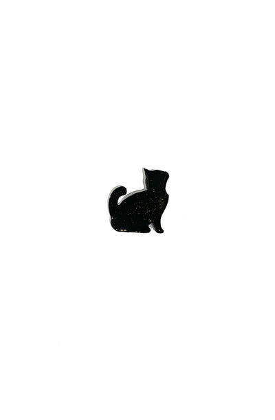 Ebony Cat Brooch