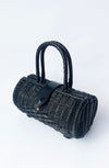 Vintage Style Rattan Handbag - black - Bonsai Kitten retro clothing