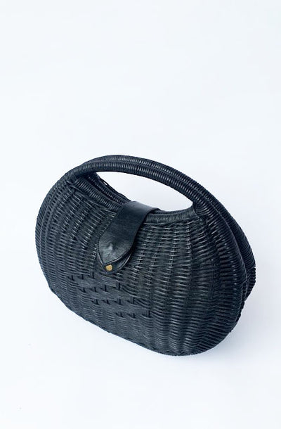 Retro Black Clutch Handbag