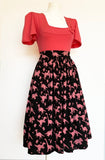 Black Dinosaur gathered skirt