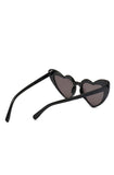 Black Lolita heart sunglasses - Bonsai Kitten retro clothing, pin up clothing