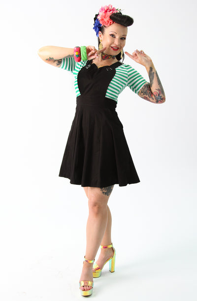 Black Heart Skater Pinafore