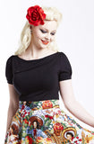 Black Sass top - Bonsai Kitten retro clothing, pin up clothing