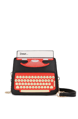 Retro typewriter handbag - black - Bonsai Kitten retro clothing