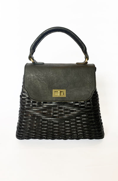 Black Darla Retro Handbag
