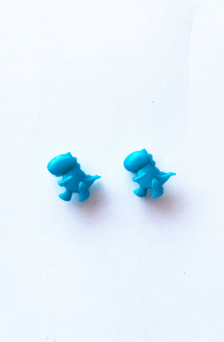 Turquoise T-Rex earrings