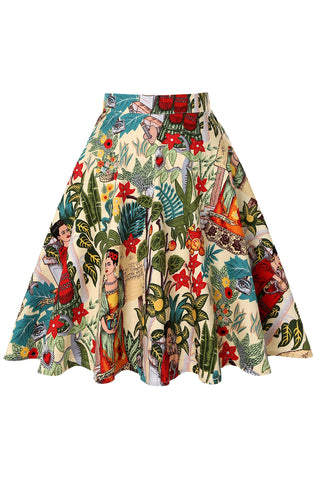 Jungle Frida swing skirt - cream