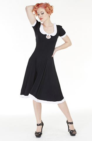 What Did Women Wear in the 1950s? Wednesday Addams dress AUD 95.00 AT vintagedancer.com
