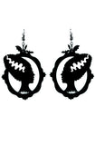Bride of Frankenstein earrings - Bonsai Kitten retro clothing, pin up clothing