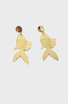 Gold Fish earrings