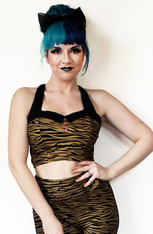 Gold tiger bodice