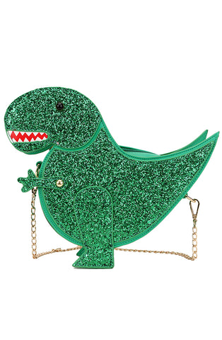 Green dinosaur handbag