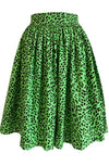 Green Leopard Skirt Curvy