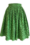 Green leopard skirt - plus