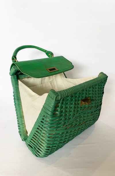Green Darla Retro Handbag