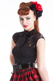 Black Kitty Kat top - Bonsai Kitten retro clothing, pin up clothing