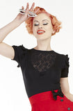 Scarlet Lace Top, Short Sleeves