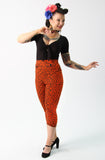 Leopard crop capri pants