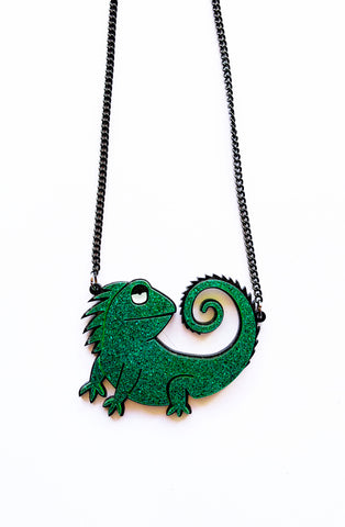Green Lizzie Necklace