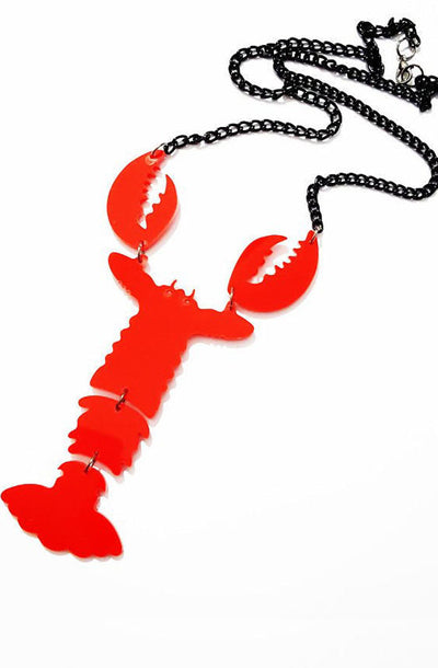 Lobster necklace - Bonsai Kitten retro clothing, pin up clothing