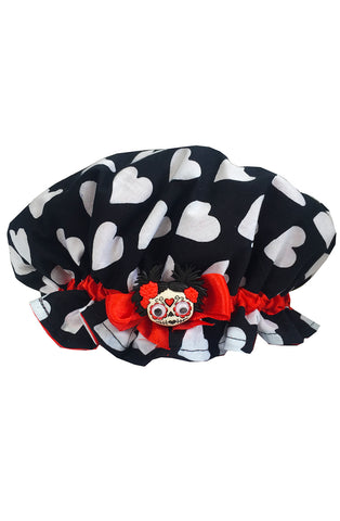 Deadly doll shower cap - Bonsai Kitten retro clothing, pin up clothing