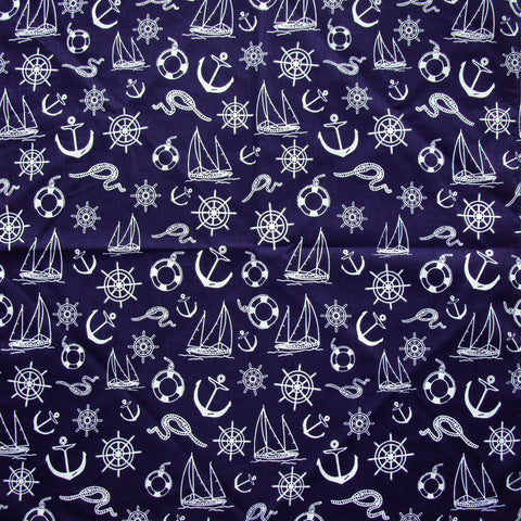 Nautical print bandana