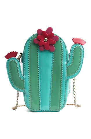 Prickly pear cactus handbag