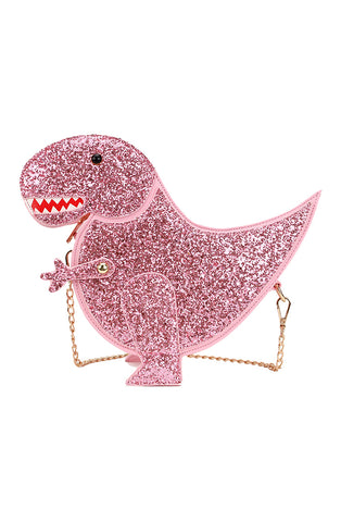 Pink dinosaur handbag - Bonsai Kitten retro clothing