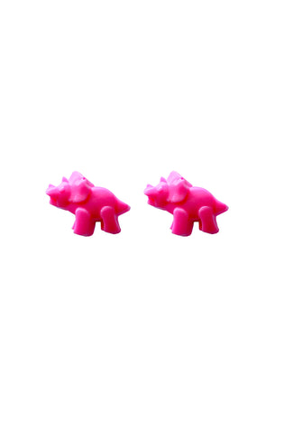 Pink Dino earrings