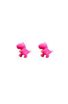Pink T-Rex Earrings