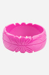 Tiki bracelet - hot pink - Bonsai Kitten retro clothing