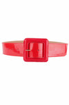 Red patent cinch belt - Bonsai Kitten retro clothing