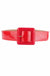 Red patent cinch belt