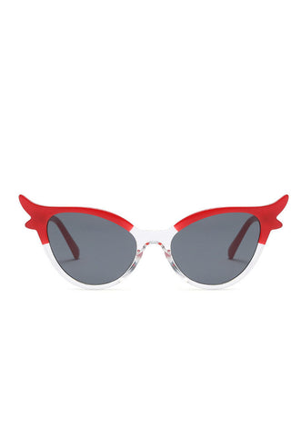 Red vintage catseye sunglasses - Bonsai Kitten retro clothing
