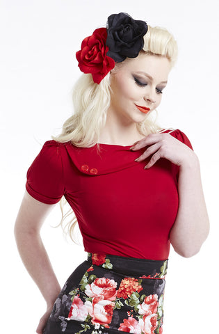 Cherry Sass Short Sleeve Top
