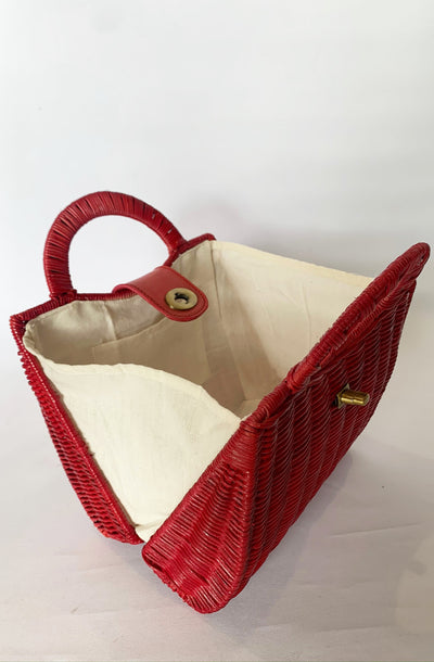 Red Tea Party Handbag