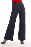 Navy Sailor Pants - Bonsai Kitten retro clothing