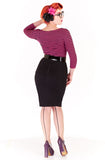 Poison pencil skirt - black & white