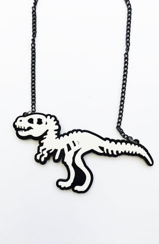 Dinosaur skele necklace - Bonsai Kitten retro clothing, pin up clothing