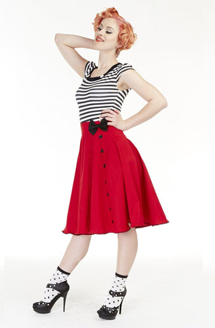 Love Lucy bow skirt - Bonsai Kitten retro clothing, pin up clothing