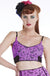 Purple Skull Flamingo Crop Camisole
