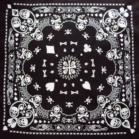 Skull and polkadot bandana - Bonsai Kitten retro clothing