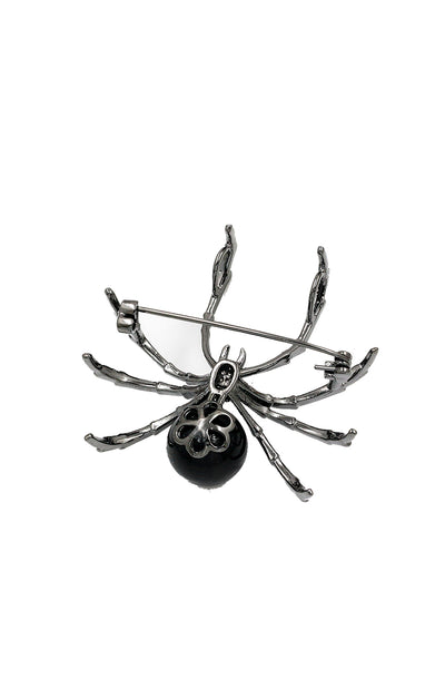 Black widow brooch - Bonsai Kitten retro clothing, pin up clothing