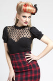 Black Lolita Lace, Short Sleeve Top