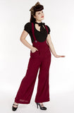 Suspender swing pants - dark red
