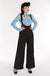 Black Suspender Swing Pants